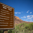 Sign moab canyon trail — Stock Photo