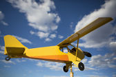 Yellow old airplane — Stock Photo