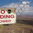 Stock Photo: No ending sign