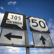 Nevada highway 50 — Stock Photo