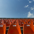 Orange Seats with numbers - Stock Photo