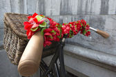 Flowered Bicycle — Stock Photo
