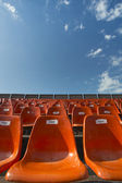Orange Seats with numbers — Fotografia Stock