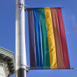 The rainbow flag in Castro — Stock Photo