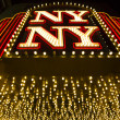 New York-New York hotel sign at night — Stock Photo