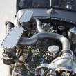 Detail of vintage Packard car engine during World of Speed at Bonneville Salt Flats — Stock Photo #18030291