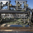 Detail of a vintage Packard car engine during the World of Speed at Bonneville Salt Flats — Stock Photo #18030645