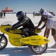 Stock Photo: ColemBrother Racing team motorbike during World of Speed at Bonneville Salt