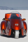 Motorbike during the World of Speed at Bonneville Salt Flats — Stock Photo