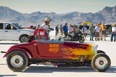 Racing car during the World of Speed at Bonneville Salt Flats — Stock Photo