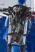 Unidentified blue super bike during the World of Speed at Bonneville Salt Flats — Stock Photo