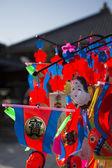 японские украшения с голубым небом — Стоковое фото