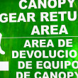Canopy sign in Costa Rica — Stock Photo