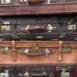 Stock Photo: Old vintage suitcases in Shanghai