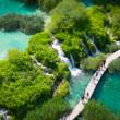 The Plitvice Lakes in the Plitvice Lakes municipality, in the mo — Stock Photo