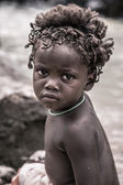 Portrait of a young kid of the Himba tribe, Namibia — 图库照片