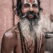 Sadhu - holy man in Varanasi — Stock Photo