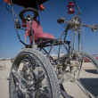Strange bicycle during the Burning Man — Stock Photo #26856637