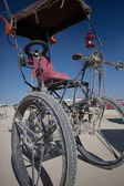 Strange bicycle during the Burning Man — Stock Photo