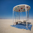 Cosy arty hammock, standing in the Black Rock Desert — Foto Stock