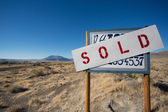 Sign for sale in Nevada — Stock Photo