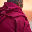 Stock Photo: Old Buddhist monk in Tibet