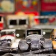 Stock Photo: Old Toy car in market