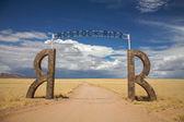 ナミビアのロッジへの入り口 — ストック写真