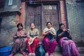 Group of women in Bhaktapur — Stock Photo