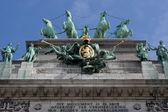 El arco del triunfo en bruselas — Foto de Stock