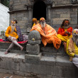 Group of Sadhus - holy men — Stock Photo