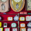 Wallclocks in a shop — Stock Photo