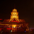 Temple illuminated at night — Stock Photo