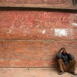 Poor and Tired man resting, Kathmandu — Stock Photo