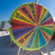 Fortune wheel in the desert — Stock Photo