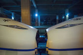 Bullet train in Hangzhou train station — Stock Photo