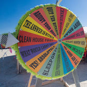 Fortune wheel in the desert — Foto Stock