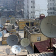 Satellite dishes in Cairo  — Stock Photo