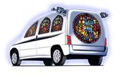 教会の車 — ストック写真
