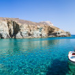 Little fishers boat on the aegean sea — Stock Photo #29469391