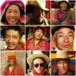 Stock Photo: Tibetmonks in 1999, Tibet