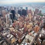 Aerial view of Manhattan in New-York — Stock Photo