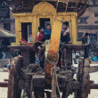 Ancient strange transport in Nepal — Stock Photo