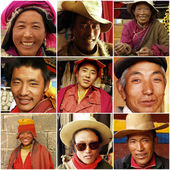 Tibetan monks in 1999, Tibet — Stock Photo
