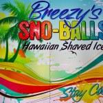 Постер, плакат: Retro advertising sign sno balls
