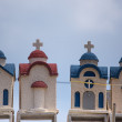 Little colorful orthodox temples in Crete — Stock Photo