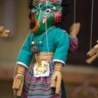 Blue puppet on a string in Kathmandu — Stock Photo