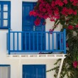 Stock Photo: Facade of typical bleu and white greek house