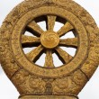 Stock Photo: Religious gold symbol on top of temple