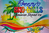 Retro-advertising sign sno-balls — Stock Photo